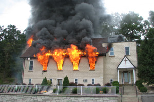Fire destroyed The Corinthian Center (former church building) on August 14, 2010